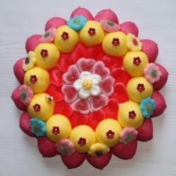 Bouquet de fleurs en bonbons grand modèle