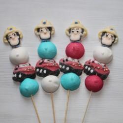 Brochette en bonbons Sam le pompier