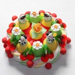 Gâteau d'anniversaire en bonbons vaches