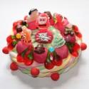 Gâteau de bonbons de Noël