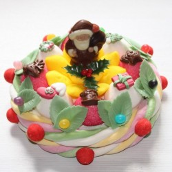 Gâteau de bonbons Ourson ou Père Noël en chocolat