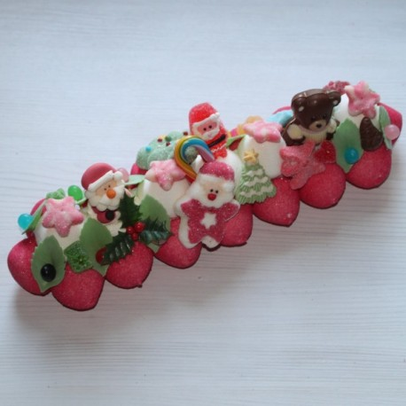 Bûche de bonbons Noël grand modèle