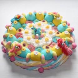 Gâteau en bonbons Poney ailé grand modèle