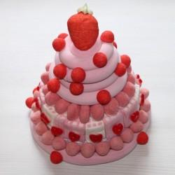 Pièce montée Milk-Shake fraise baby