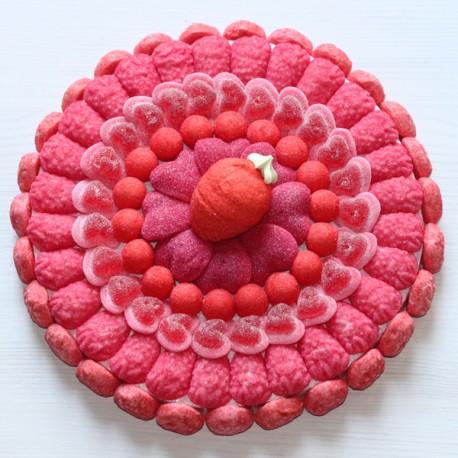 Tarte aux fraises en bonbons
