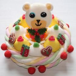 Gâteau de bonbons fêtes de fin d'année Ourson
