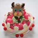 Gâteau de bonbons fêtes de fin d'année Renne