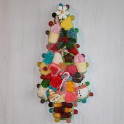 Sapin de Noël petit modèle en bonbons pour un merveilleux Noël