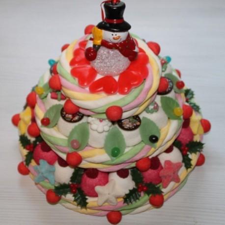 """Pièce montée de Noël en bonbons """" Le Noël enchanté """""""