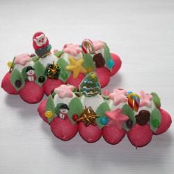 Bûche en bonbons par lot de 2 , 3 ou 4 pièces