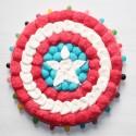 Bouclier Captain América en bonbons