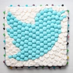 Logo TWITTER en bonbons