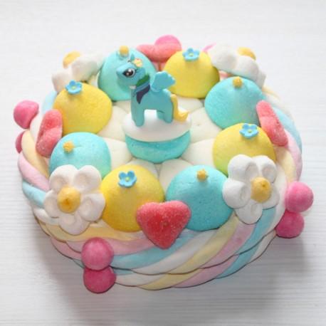 Gâteau de bonbons Poney Cheval Ailé