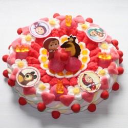 Gâteau de bonbons Masha et Michka
