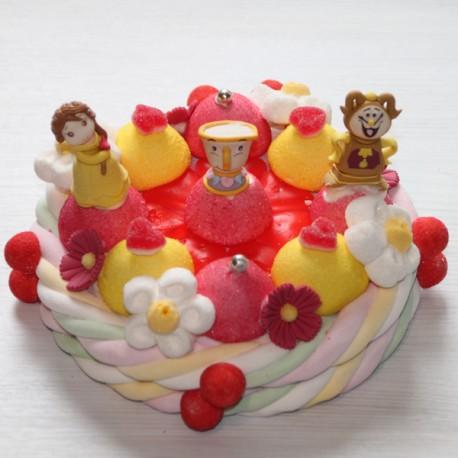 Gâteau de bonbons La Belle et La Bête