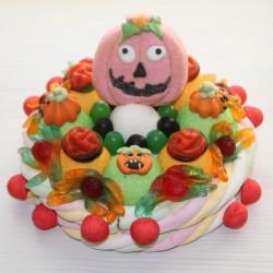 Gâteau en bonbons Halloween citrouille