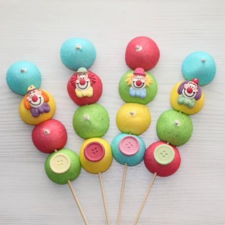 Brochette de bonbons Clown