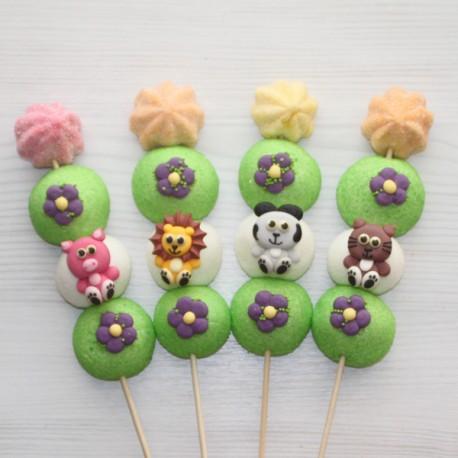 Brochette de bonbons animaux