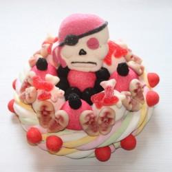 Gâteau en bonbons Halloween Pirate tête de mort