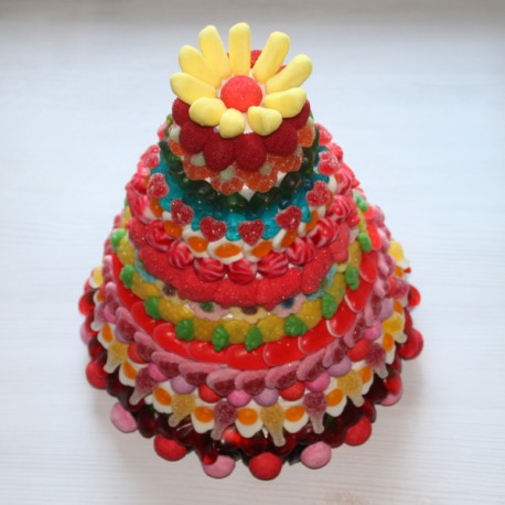 Création de cinq pièces montées en bonbons