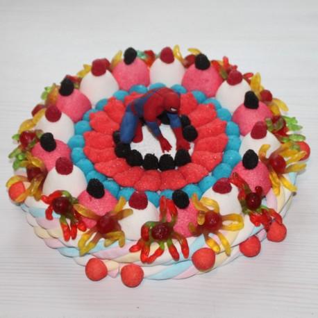"""Gâteau de bonbons Spiderman """" l'homme araignée """""""