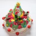 """Gâteau de bonbons """" 25 décembre """" Sapin de Noël et Bonhomme de neige"""