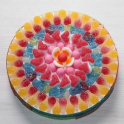 Gâteau de bonbons acidulés HARIBO PINK