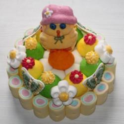 Gâteau de Pâques en bonbons poussin