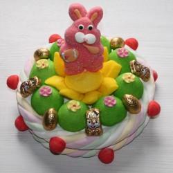 Gâteau de Pâques en bonbons lapin