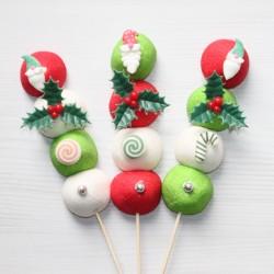"""Brochette de bonbons Noël """" Lutin """" pour de merveilleuses fêtes"""