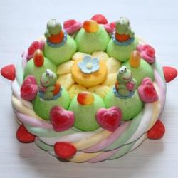 Gâteau d'anniversaire grenouilles