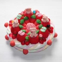 Gâteau d'anniversaire cochon en bonbons