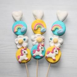 Brochette de bonbons Licorne