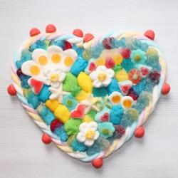 Coeur en bonbons grand modèle garçcon