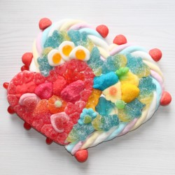 """Coeur double en bonbons """"Passion à deux"""""""