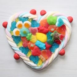 Coeur en bonbons moyen modèle