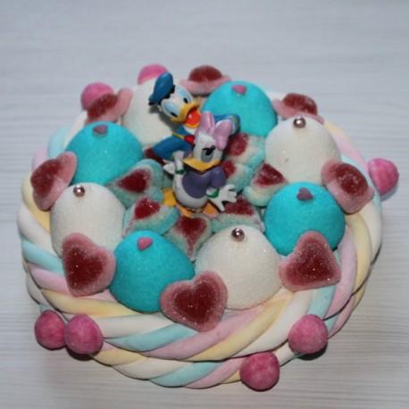 Gâteau de bonbons Daisy et Donald