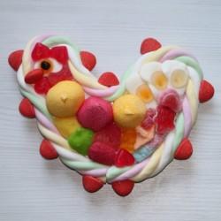 Poule petit modèle en bonbons
