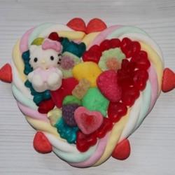 Coeur petit modèle personnage Hello Kitty