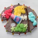 Palette de peinture en bonbons