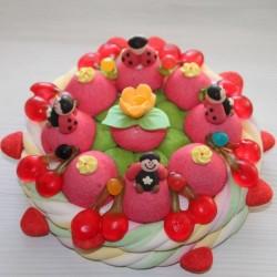 Gâteau d'anniversaire en bonbons Coccinelle