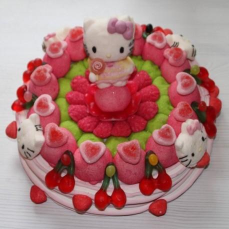 Gâteau Hello kitty grand modèle