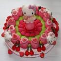 Gâteau de bonbons Hello kitty grand modèle