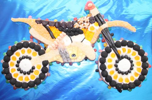 Moto trial en bonbons