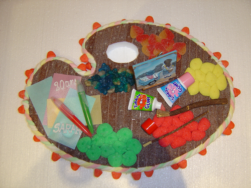 Palette de couleurs en bonbons