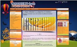 Premier site internet de Caramelys Lyon en 1996